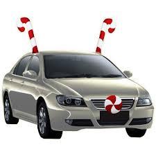 Christmas Vehicle Decorations Holiday Time Christmas Decor Candy Cane Car Costume Walmart Com