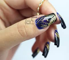 gold foil aztec print nail art design lucy u0027s stash