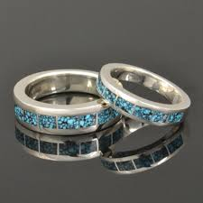 turquoise wedding rings dinosaur bone and turquoise wedding rings hileman silver jewelry