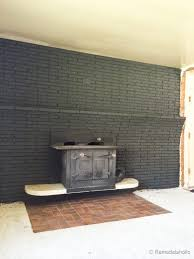 Brick Fireplace Paint Colors - remodelaholic painted black brick fireplace