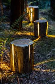 Garden Lights 15 Diy How To Make Your Backyard Awesome Ideas 7 Real Wood Logs