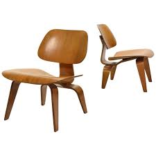 Iconic Chairs Of 20th Century Iconic Pair Of Early Eames Fiberglass Bucket Chairs In Salmon At