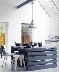cuisine en palette la cuisine avec îlot central idées de décoration et design