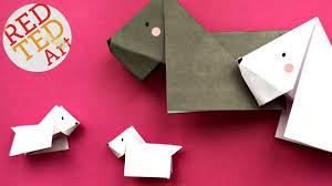 easy origami dog scottie scottish terrier easy origami