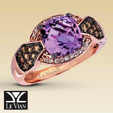 clearance engagement rings clearance le vian diamond cotton candy amethyst ring