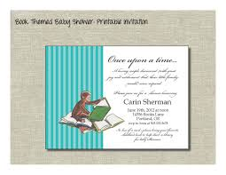 book themed baby shower printable invitation w curious