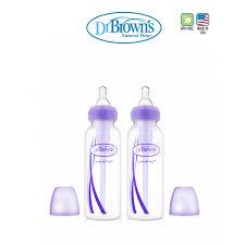 brown s 8 oz 250ml pp narrow neck options bottle purple