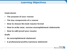 Statement Of Purpose Resume Resume Development Welcome Materials Resume Guidelines Worksheets