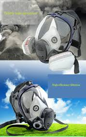 ventilation mask for painting full face survival gas safety mask for work filter breath spray