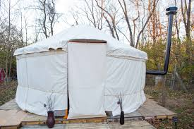diy yurt portable heated building for under 3 000 no hammers or