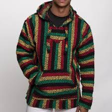 baja sweater mens baja rasta poncho multi 18035