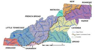 Appalachian Mountains On Map River Basins Western North Carolina Vitality Index