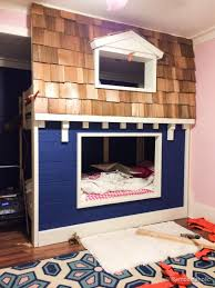 Plans For Making A Bunk Bed by Awesome Kid U0027s Bunk Bed Playhouse