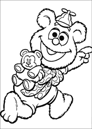 coloring pages sesame street fraggles muppets muppet