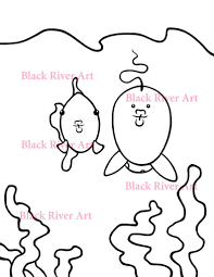 ima making funny fish faces children u0027s coloring page u2013 black river art