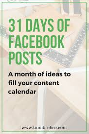 Best Small Business Email by One Month Of Facebook Post Ideas To Plan Amazing Engaging Content