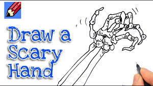 Skeleton Images For Halloween by How To Draw A Skeleton Hand For Halloween Real Easy Youtube