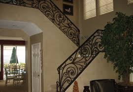 Wrought Iron And Wood Banisters Ornamental Wrought Iron Staircase Railing Orange County Ca