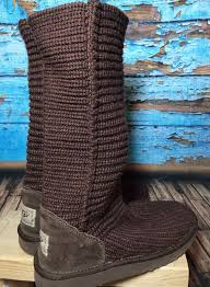 s slouch boots australia ugg australia s brown knit slouch boots sz 7 shoes knee high