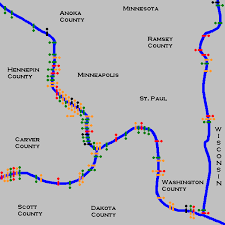 bridges of county map bridges and structures of the major rivers of minneapolis and