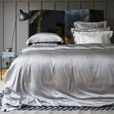 buy gingerlily silk duvet cover silver grey amara