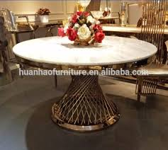 luxury round dining table luxury modern 2 meter marble stone top round dining table for