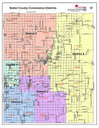 ks map commission district map butler county ks official website