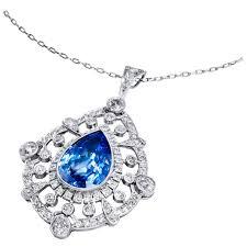 sapphire jewelry necklace images 1940s raymond yard 15 83 carat star sapphire diamond and platinum jpeg