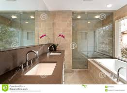 modern master bath glass shower stock photos images pictures master bath in luxury home stock photos