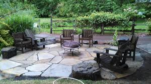 Slate Rock Patio by Flagstone Patio