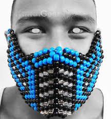 kandi mask sub zero mortal kombat 2nd edition kandi mask gear ebay