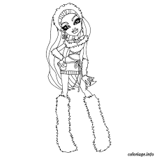 Coloriage Monster High Abbey Bominable dessin