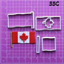 canda america australia flags design cookie cutter set custom made