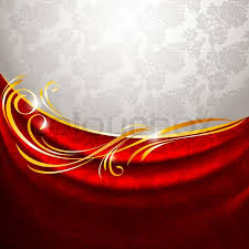 Fabric Drapes Red Fabric Drapes On Gray Background Vector 10eps Stock Vector