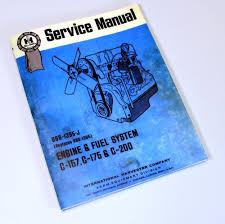 farmall ih c 157 c 175 gas engine 2400b 2405b tractor service shop