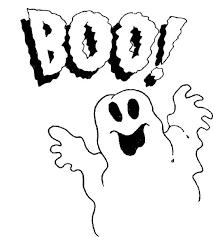 printable ghost halloween coloring coloringpagebook