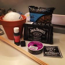 Jack Daniels Home Decor Diy Goodness Man Bouquet Oh U0026 Nsfw Little Lady Vs The World