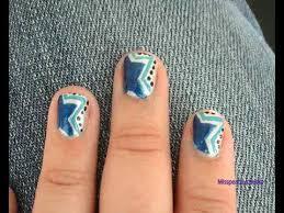 blue star nail art design for short nails youtube