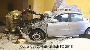 fd car crashes into fellowship hall of church in seneca fox