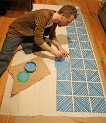 Painting Fabric Curtains What U0027s Better Than Printing Your Own Diy Patterned Fabric A Man