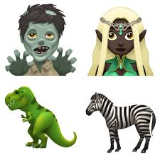clean emoji and here are zombie elf t rex and zebra emoji new apple
