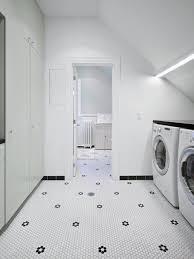 black and white tile floor laundry room ideas u0026 photos houzz