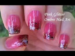 glitter ombre nail art tutorial in pink diy pretty sponge nails