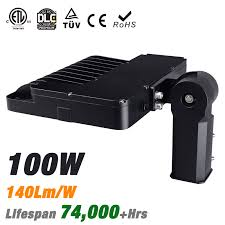led parking lot lights vs metal halide led shoebox pole light fixture 14000lm 140lm w etl cetl dlc