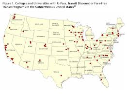 map us colleges streetsblog 5 ways colleges coax students out of cars