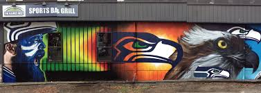 seattle seahawks mural graffiti usa seattle graffiti artist for hire