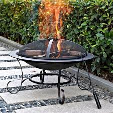 walmart outdoor fireplace table andover 30 round steel fire pit walmart com