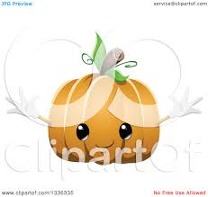 clipart of a cute halloween pumpkin character royalty free