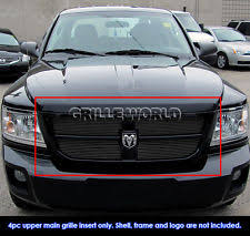 dodge dakota black grill for 2008 2010 dodge dakota black billet grille grill insert ebay