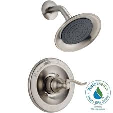 delta windemere 1 handle shower only faucet trim kit in stainless